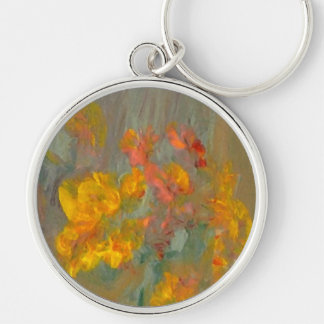 Impressionist Flowers Golds and Oranges Key Chains
