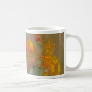Impressionist Flowers Golds and Oranges Mugs