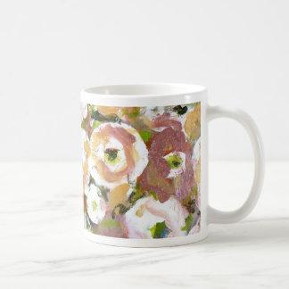 Impressionist Flowers Basic White Mug