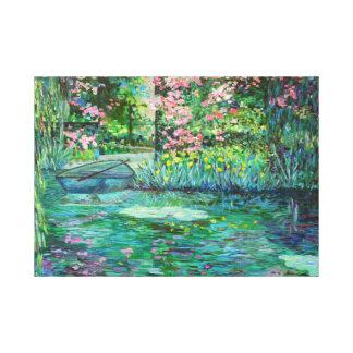 impressionist garden canvas prints
