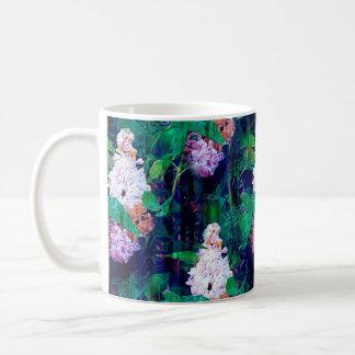 IMPRESSIONIST LILAC FLOWERS ORIGINAL indigo Coffee Mug