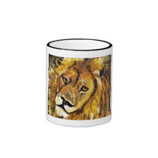 Impressionist Lion mug