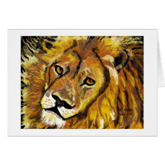 Impressionist Lion notecard