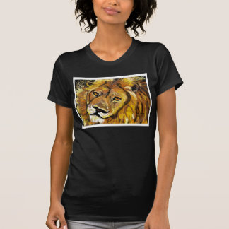 Impressionist Lion women's petite tee