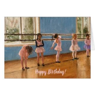 Impressionist Painting Little Girl Ballet Dancers Card