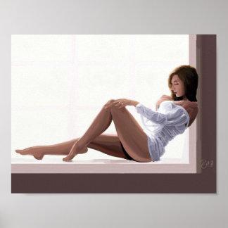 Impressionist PinUp Girl Poster