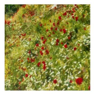 Impressionist Poppies Acrylic Wall Art