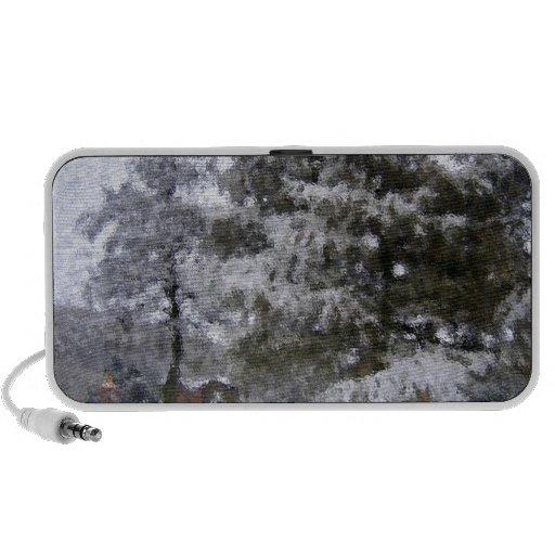 Impressionist snow tree travel speaker