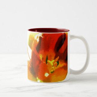 Impressionist Spring Tulips Ceramic Mug