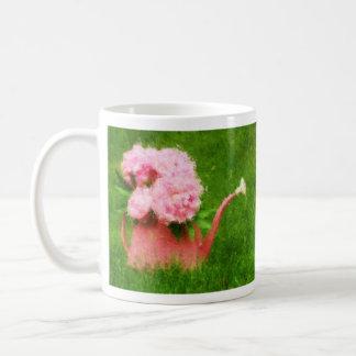 Impressionist Style Pink Peonies Coffee Mug