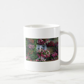 Impressionist Summer flowers cottage Basic White Mug