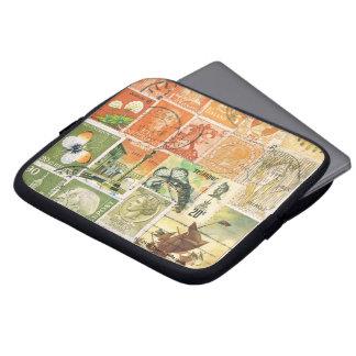 Impressionist Sunset Laptop Case Postage Stamp Art Laptop Computer Sleeve