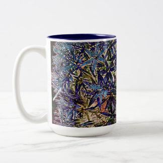 impressionistic allium flowers mug