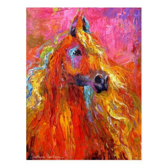 Impressionistic Horse #2 Postcard