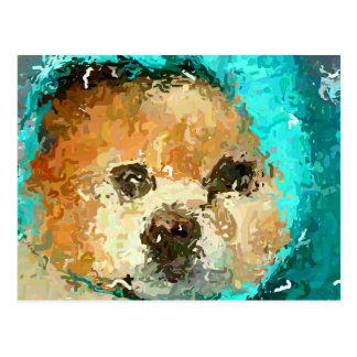Impressionistic Pom Raincoat Postcard