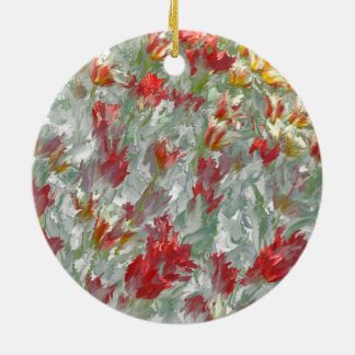 Impressionistic Tulips Christmas Ornament