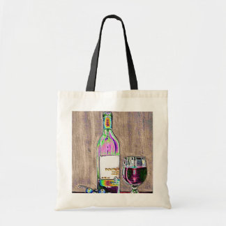 Impressionistic Wine and Grapes Art Tote Bag