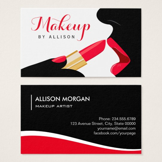 Impressive Makeup Artist Hot Red Lips Lipstick Business