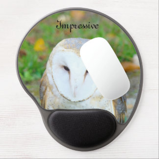 Impressive mousepads custom White Owl gifts Gel Mouse Pad