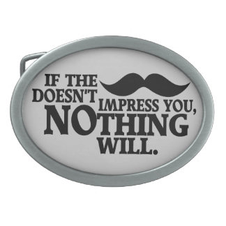 Impressive Moustache custom color belt buckle