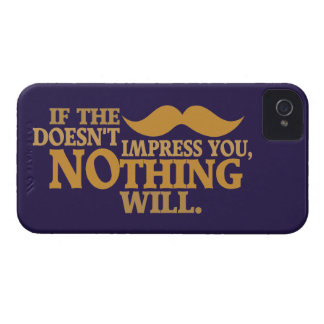 Impressive Moustache custom color Blackberry case