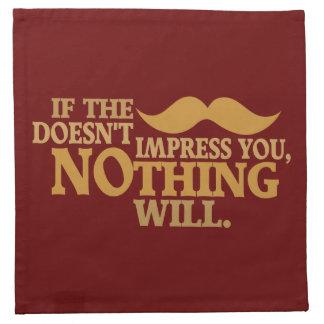Impressive Moustache custom color cloth napkins