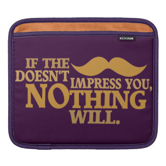 Impressive Moustache custom color iPad sleeve