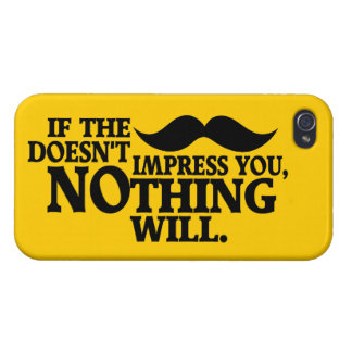 Impressive Moustache custom color iPhone cases iPhone 4/4S Cases