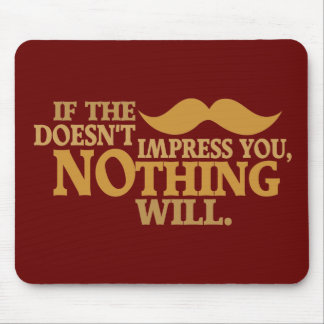 Impressive Moustache custom color mousepad
