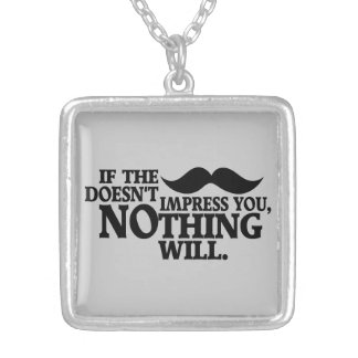 Impressive Moustache custom color necklace