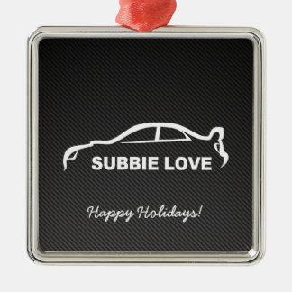 Impreza STI Silhouette with Carbon fiber Christmas Ornament