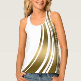 Improper Gold Stripes Tank Top