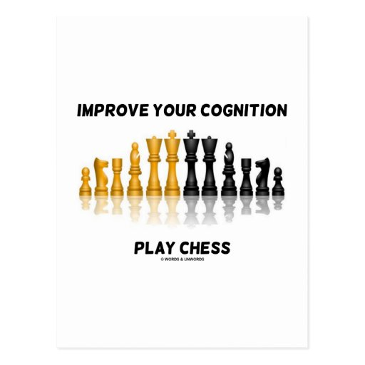 Improve Your Cognition Play Chess Postcards