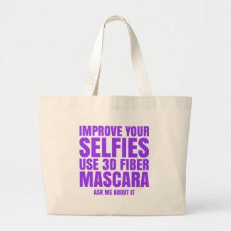 Improve your selfies jumbo tote bag