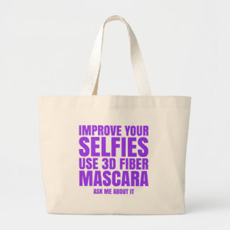 Improve your selfies large tote bag