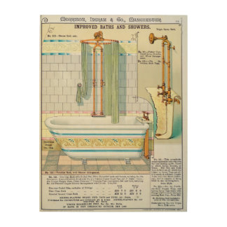Improved Baths and Showers from a catalogue of san Wood Wall Decor