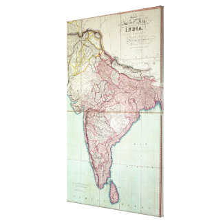 Improved Map of India published in London 1820 Canvas Print