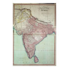 Improved Map of India published in London 1820 Poster