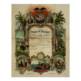 Improved Order of Red Men in Freedom [1867] Poster