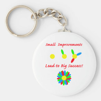 Improvement Success Basic Round Button Key Ring