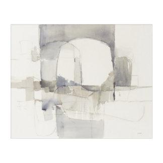 Improvisation I Gray Abstract Print Acrylic Wall Art
