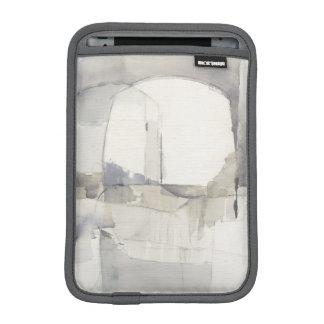 Improvisation I Gray Abstract Print iPad Mini Sleeve