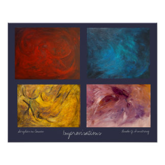 Improvisations Abstract Expressionist Art Poster