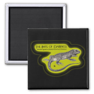 Imps of Darkness (on Dark) Square Magnet