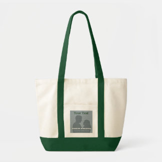 Impulse Green Tote Your Photo Text Template Canvas Bags