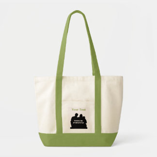 Impulse Lime Tote Your Photo Text Template Tote Bag