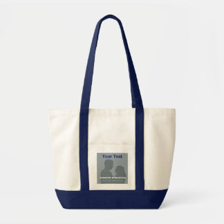 Impulse Navy Tote Your Photo Text Template Canvas Bags