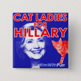 ImWithPurr Cat Lady Pride Button