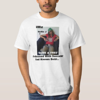 "iMz ""Alive & Free"" ad T Shirts"