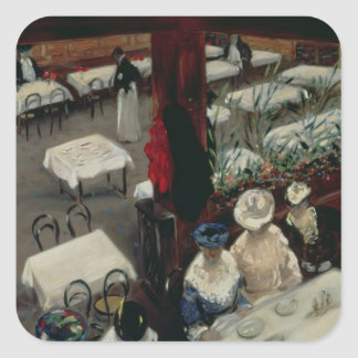 In a Cafe, 1905 Square Sticker